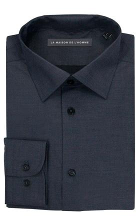 chemise demi-mesure gris foncé
