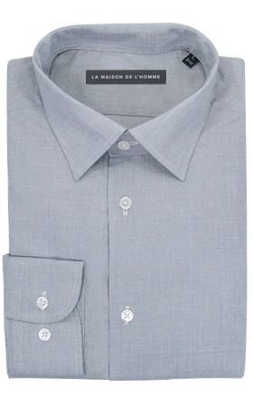 chemise demi-mesure gris clair