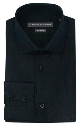 chemise demi-mesure slimfit noir