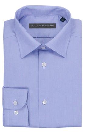 chemise demi-mesure bleu violet