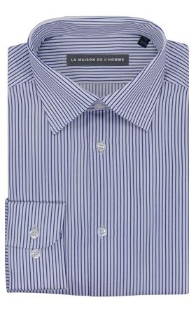 chemise demi-mesure bleu rayures