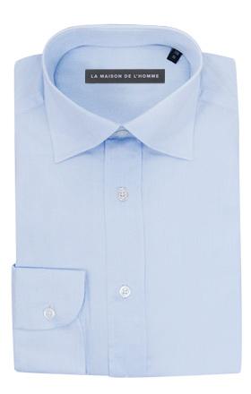 chemise demi-mesure bleu ciel