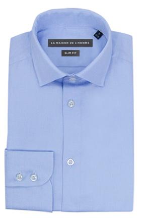 chemise demi-mesure slimfit bleu