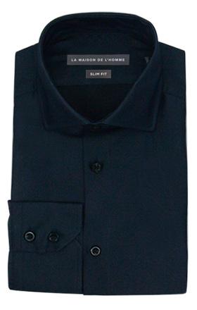 chemise demi-mesure slimfit bleu marine
