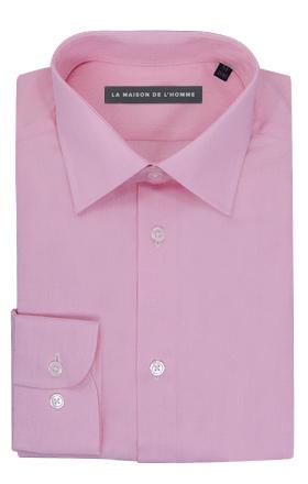chemise demi-mesure rose pâle