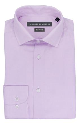 chemise demi-mesure slimfit violet clair