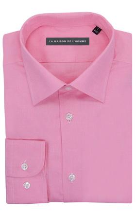chemise demi-mesure rose