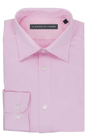 chemise demi-mesure rose clair