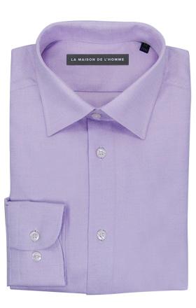chemise demi-mesure violet pâle