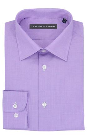 chemise demi-mesure violet