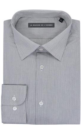 chemise demi-mesure gris
