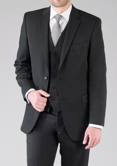 costume demi mesure 3 pièces noir