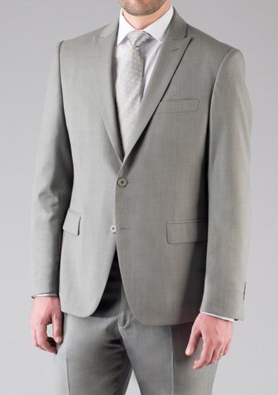 costume demi mesure gris clair