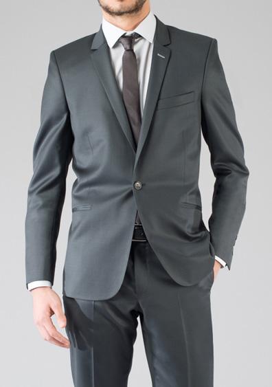 costume demi mesure gris slimfit