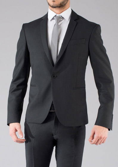 costume demi mesure noir slimfit