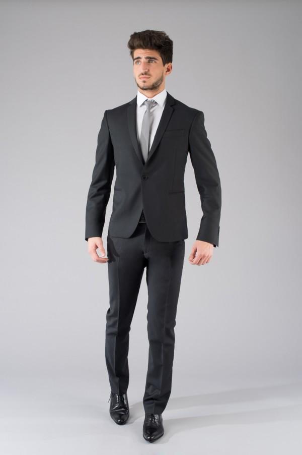 Costume slimfit noir 100% laine