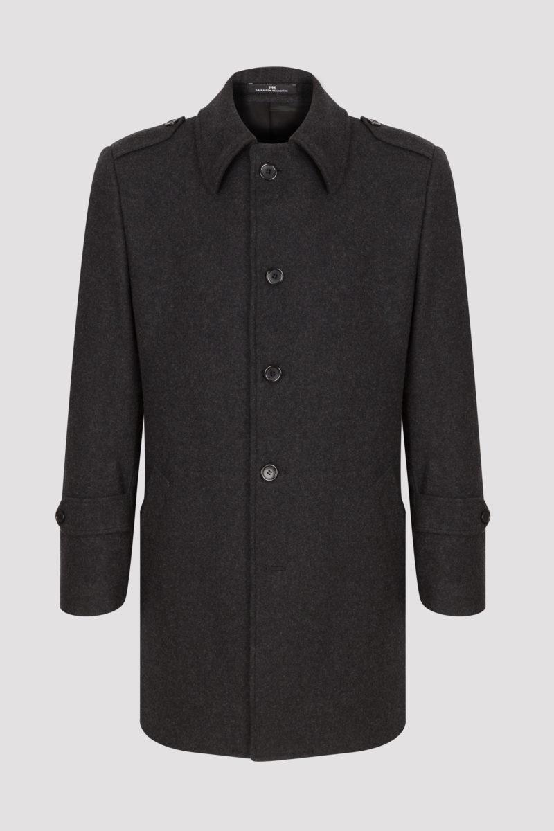 Manteau court laine et cachemire