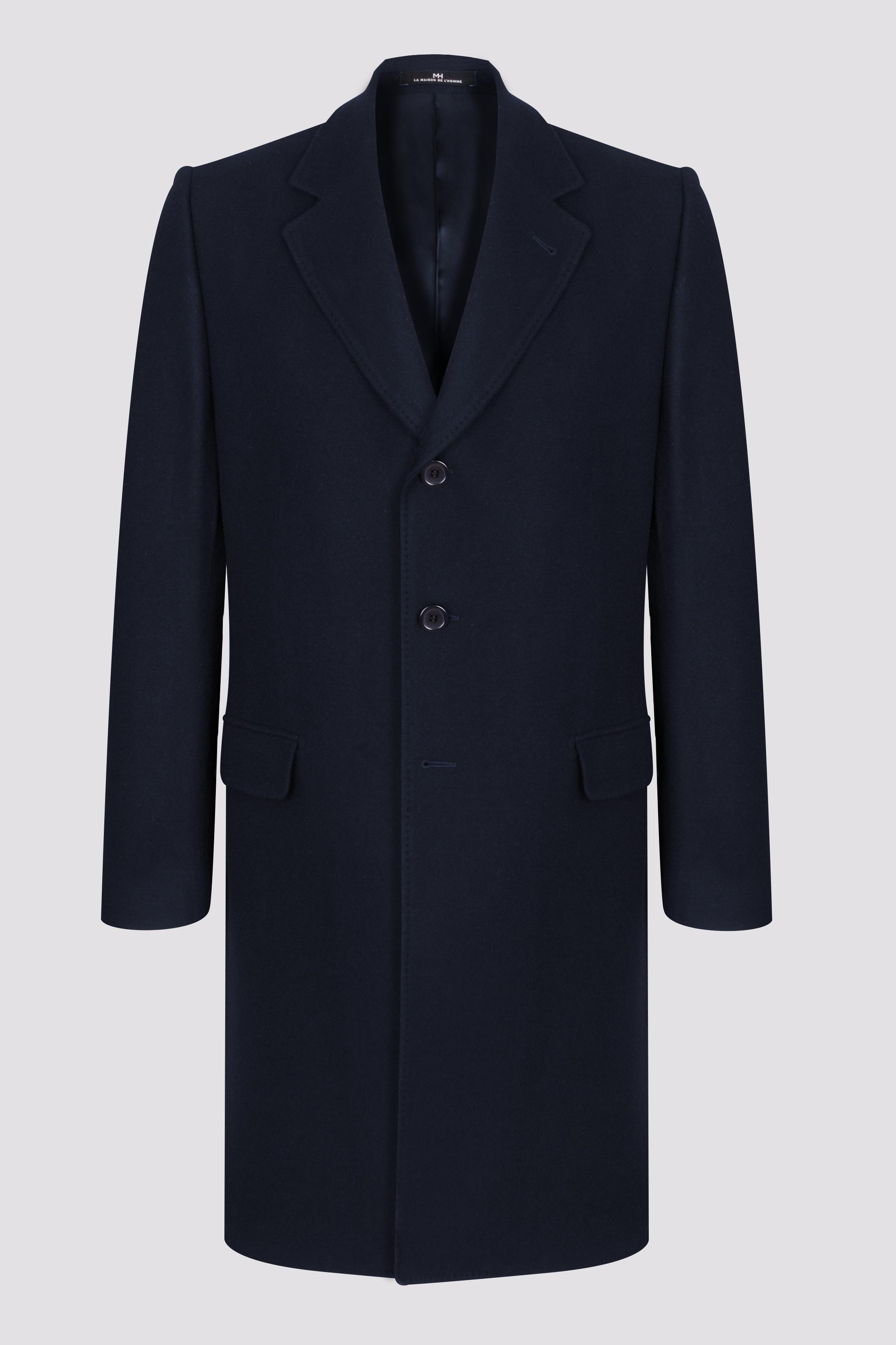 Manteau long col tailleur laine et cachemire LA MAISON DE